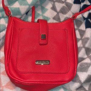 Red orange Nautica small crossbody bag